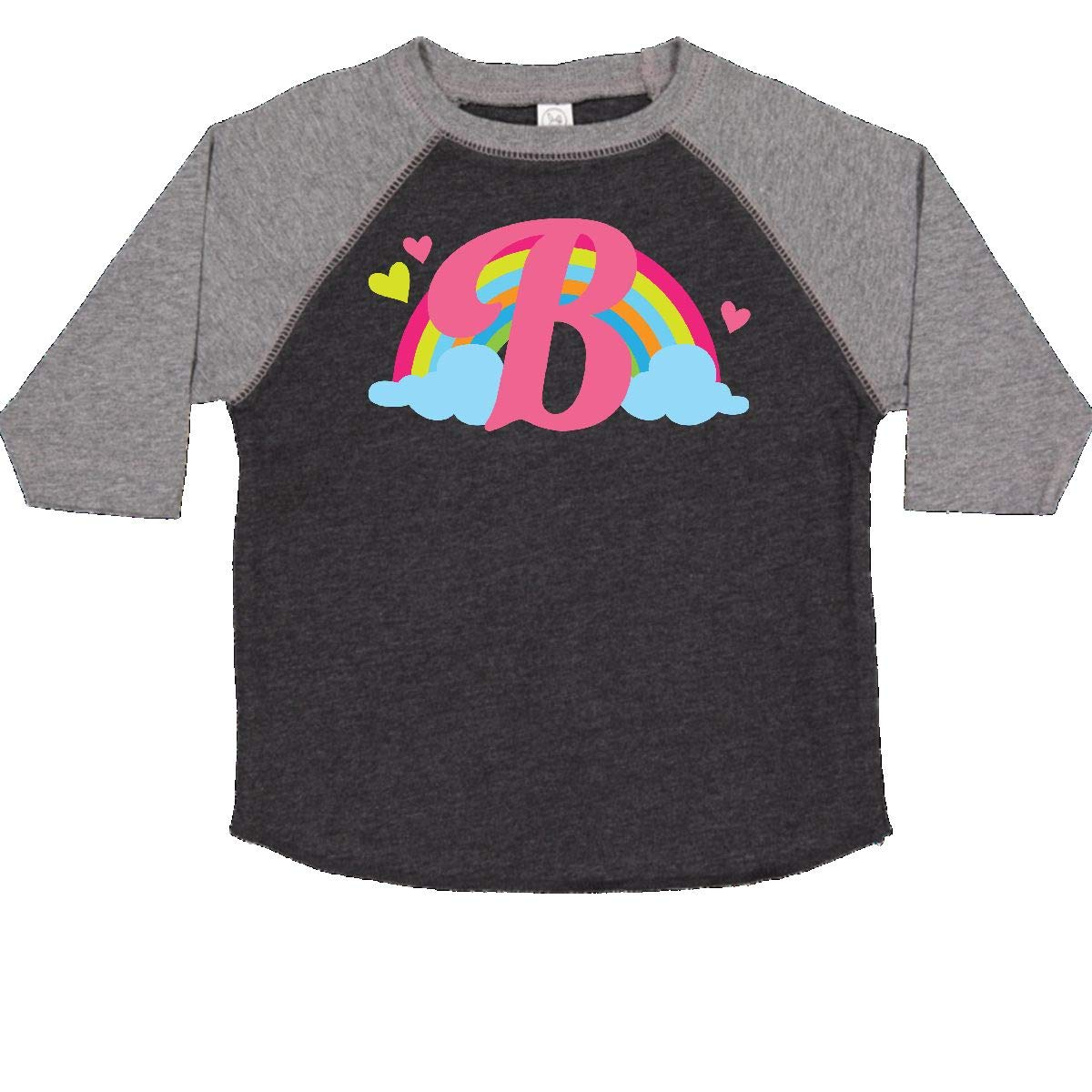 inktastic Monogram Letter B Rainbow Toddler T-Shirt
