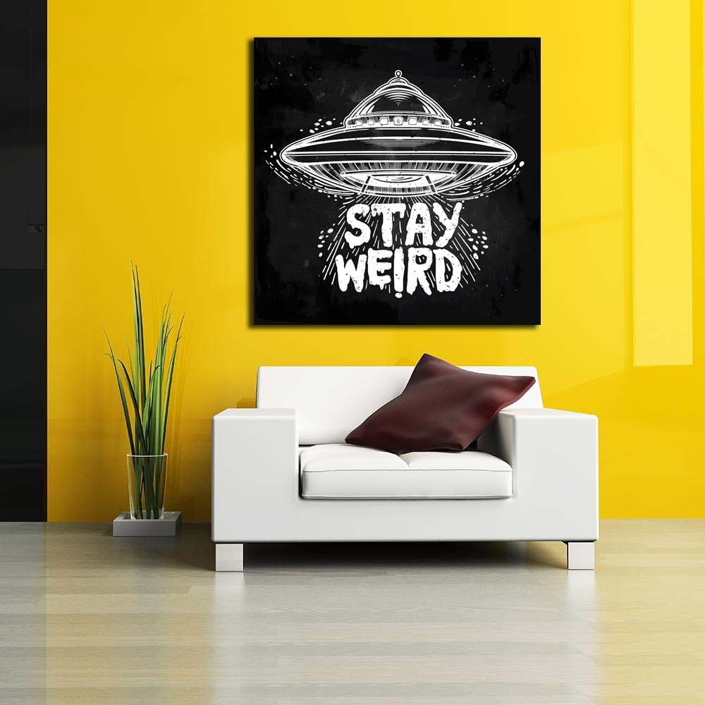 PB Stay Weird Unframed Canvas Painting 16 x 16inch: Amazon.in: Home ...