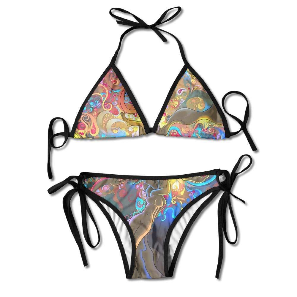 Woman Human Tree Sexy 2-Piece Bikini Set Swimsuit Bathing Suits Padded Bra