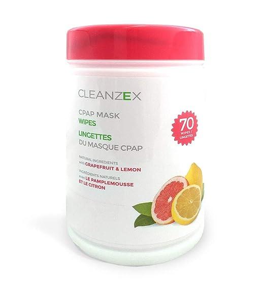 cleanzex 100% algodón máscara CPAP toallitas húmedas con pomelo limón aroma, 70 toallitas: Amazon.es: Bricolaje y herramientas