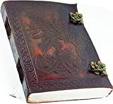 leather journals prime clearance sale Antique Handmade Leather Bound Daily Notepad For Men & Women Unlined Paper Medium 7 x 5 Inches, Best Gift for Art Sketchbook, Travel Diary & Notebooks to Write in