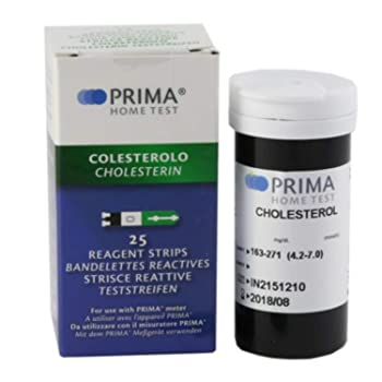 Prima Cholesterol Test Strips (25 Pieces)