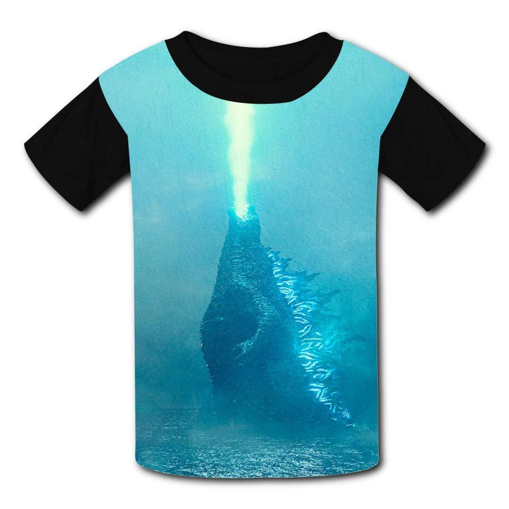 VSHFGC Kid//Youth Go-dZi-Lla T-Shirts 3D Short Sleeve Tees for Girls Boys