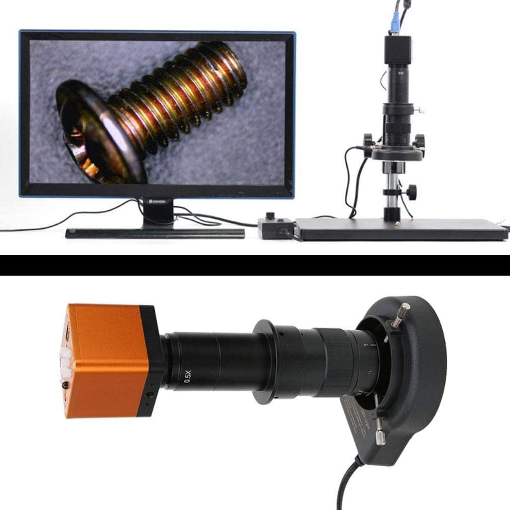 HD HDMI Jewelry Inspection Microscope Magnifier USB2.0 100-240V for Material Inspection Watches Repair Soldering Weiyirot Industrial Microscope US Plug 34MP 180X Microscope Camera