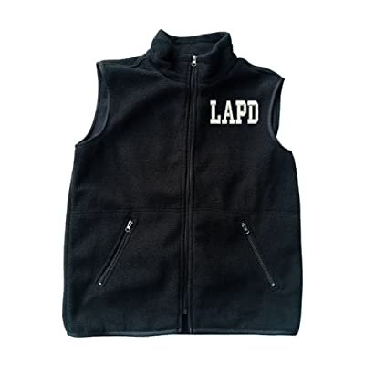 LAPD Los Angeles Police Dept Black Fleece Zipped Vest with Pocket