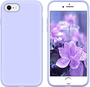 YINLAI iPhone SE 2020 Case, iPhone 8 Case iPhone 7 Case Slim Liquid Silicone Non Slip Shockproof Hybrid Hard Back Cover Soft Bumper Protective Phone Case for iPhone SE 2nd Gen/ 8/7, Lavender Purple