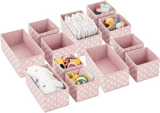 mDesign Juego de 12 Cajas de almacenaje para habitación Infantil ...