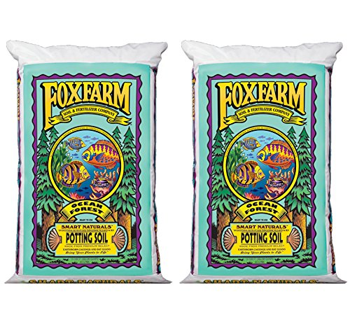 (2) Foxfarm FX14000 Ocean Forest Garden Potting Soil Bags 6.3-6.8 pH | 3 Cu Ft