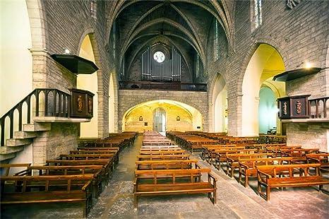 Amazon com : AOFOTO 10x7ft Spain Catholic Church Interior Backdrop