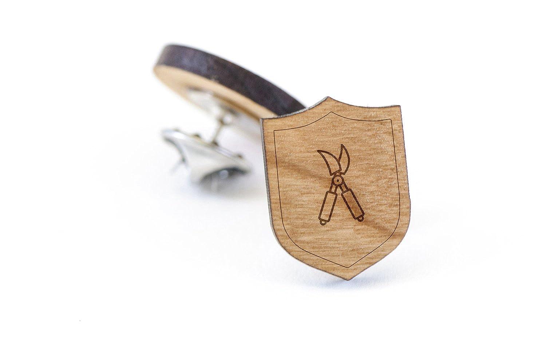 Shears Lapel Pin Wooden Pin