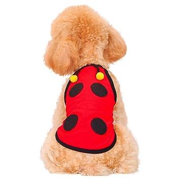 GY Ropa para Mascotas - Ropa para Perros Cachorro Perro Gato Ropa para Mascotas Chaleco de Verano sección Delgada vestidor Mariquita /+-+/ (Tamaño : XL): ...