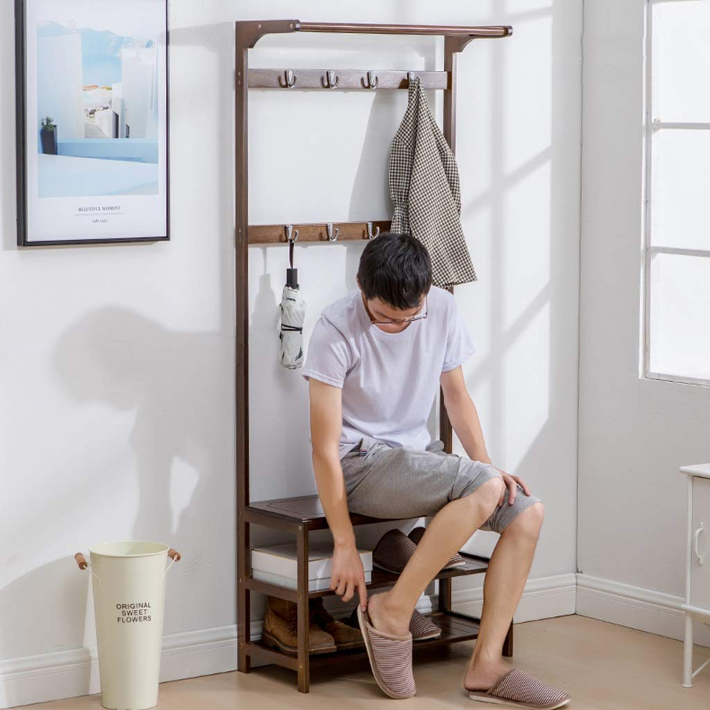 Amazon.com: LYF Coat Rack Coat Rack Floor Shoe Rack Hall ...