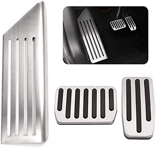 Anti-Slip Gas Brake Pedal Gas+Brake Pedals Auto Aluminium Accelerator Brake Pedal Cover for Tesla Model 3