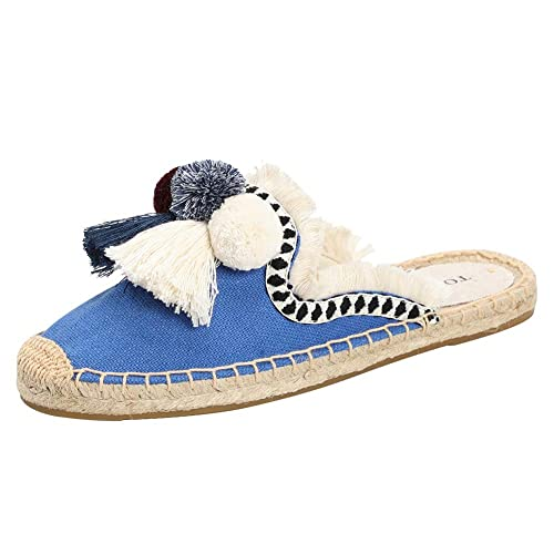 Amazon.com: TONIVIS Zapatos planos para mujer con borla y ...
