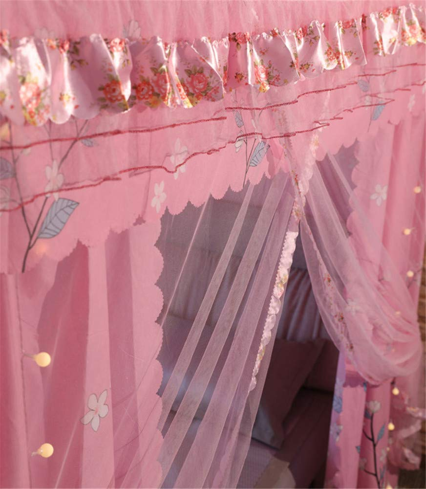 Mosquito net Double Bed on Bedroom Insect-Proof Children's Gauze Princess Wind Floor Hanging Home Summer Decoration Tent, Pink, 2.0M by Lostryy-Mosquito Nets Baby (Image #4)