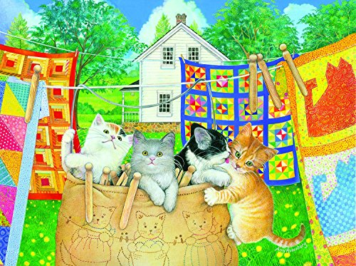 Clothesline Kittens 500 pc Jigsaw Puzzle by SunsOut
