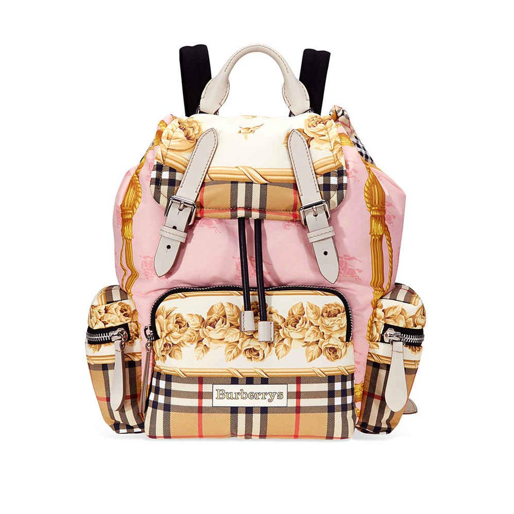 BURBERRY ,  Damen Kinderrucksack Rosa Stone - Rosa E Bianco Medium