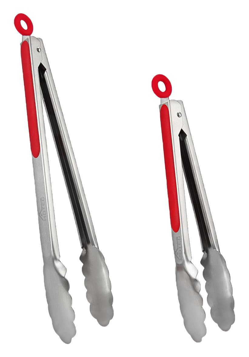 Hotec Stainless Steel Kitchen Tongs Set of 2 - 9
