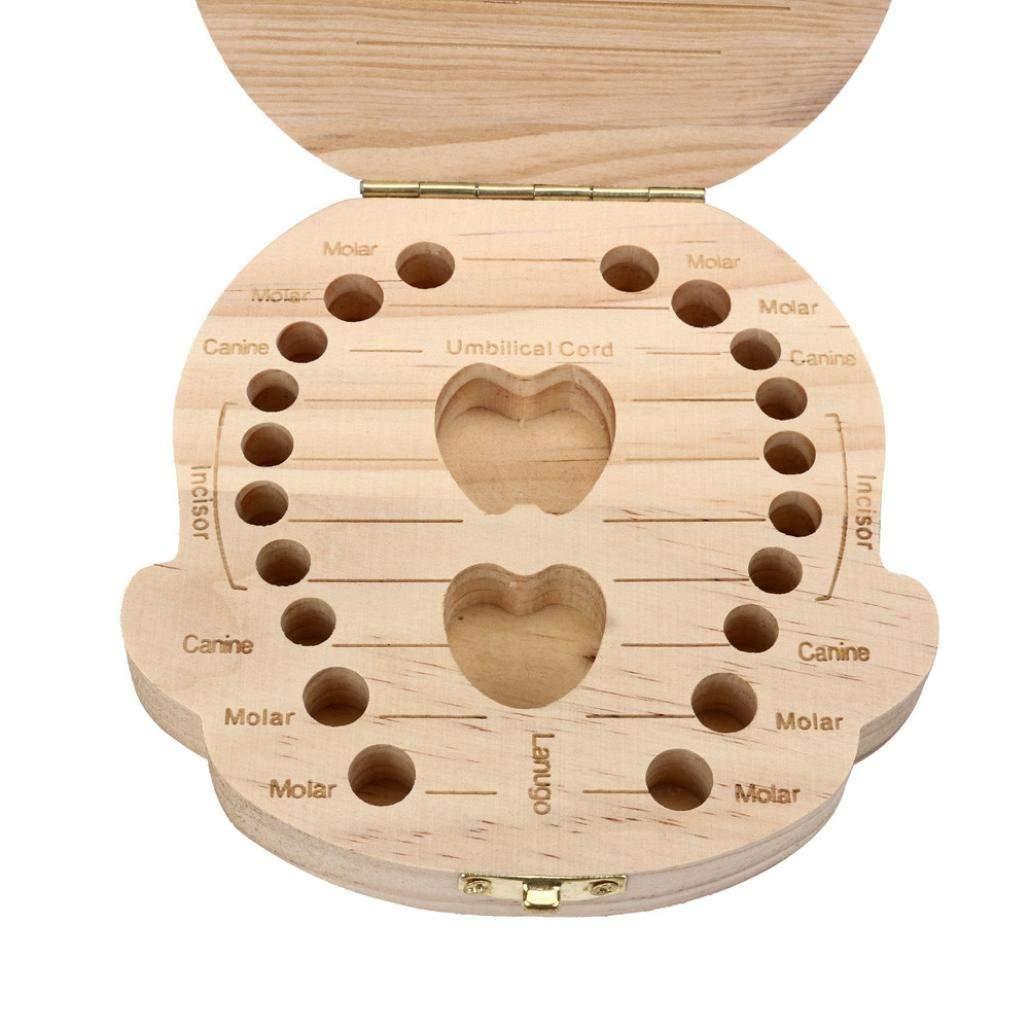 Boys Leisial Lovely Cute Baby Teeth Save Box Wooden Handmade