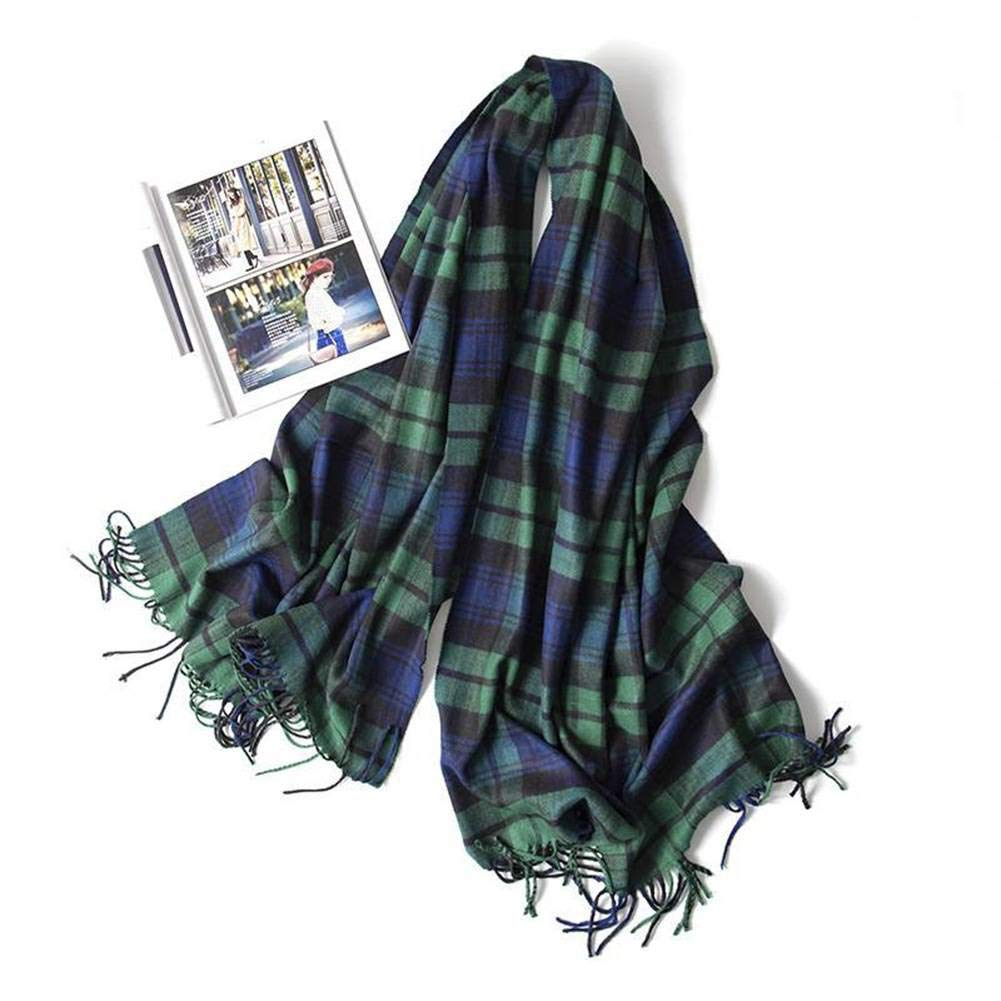 MTX Ltd Sweet Female Warm Plaid Medium Medium Medium Long Scarf Shawl Otoño and Invierno Outdoor Multi-Functional Fgreyion Trend Wild Warm Shawl Scarf Gift, Verde Rojo Grid e04b9d