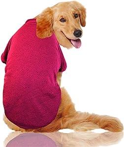 Warm Winter Coat Large Dog Clothes Dog Coat Medium-Large Dogs Golden Bulldog pet Clothing Hoodie Clothing,Red Sweater,3XL