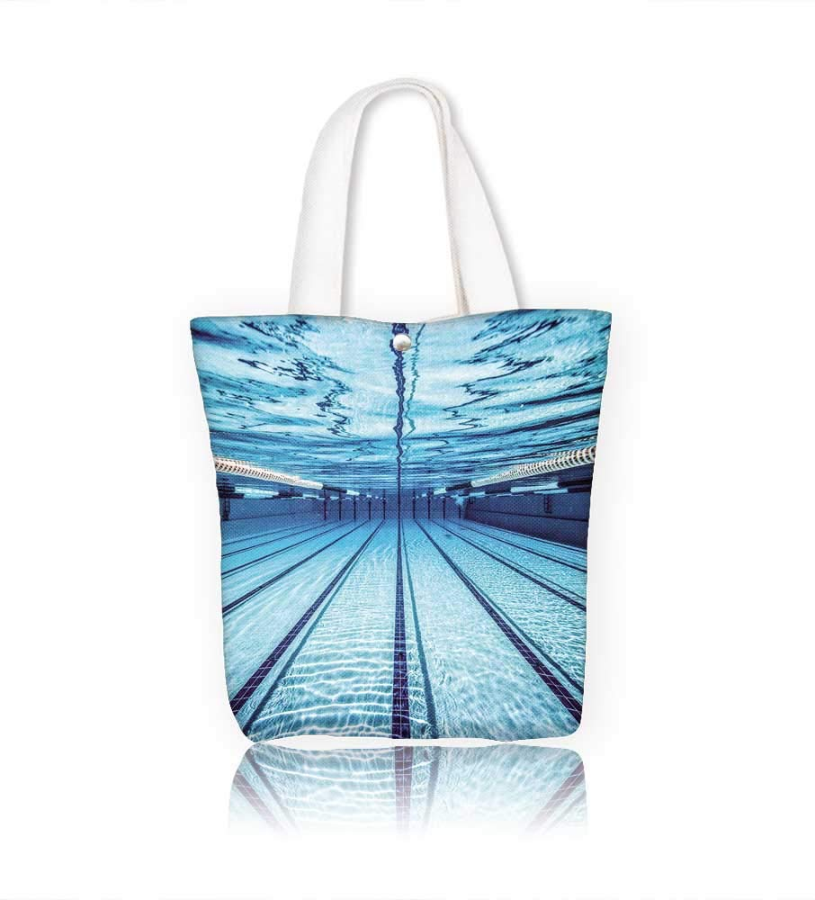 Amazon.com: Canvas Tote Bags swimming pool under water Design Your ...