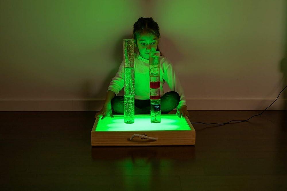 Caja De Luz Montessori - RGBW - XL Gold - Mesa De Luz Grande - CE