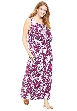 Women\'s Plus Size Layered Dress In Soft Knit at Amazon Women\'s ...