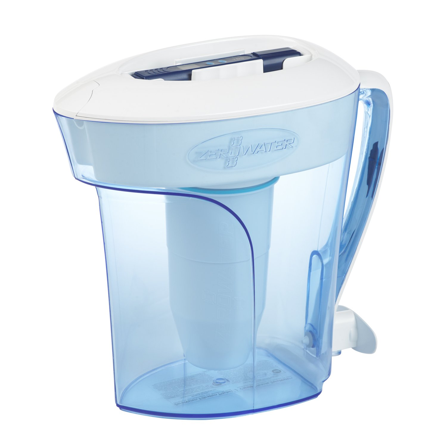 ZeroWater 10 Cup Pitcher with Free Water Quality Meter BPA-Free NSF Certified to Reduce Lead and Other Heavy Metals ZP-010