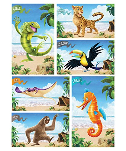 - VBS-Shipwrecked-Giant Bible Memory Buddy Posters (Set Of 6) (Feb 2018)