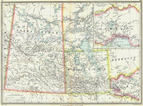 Map Of Saskatchewan And Manitoba Canada Amazon.com: Canada. Central Including Manitoba & Saskatchewan