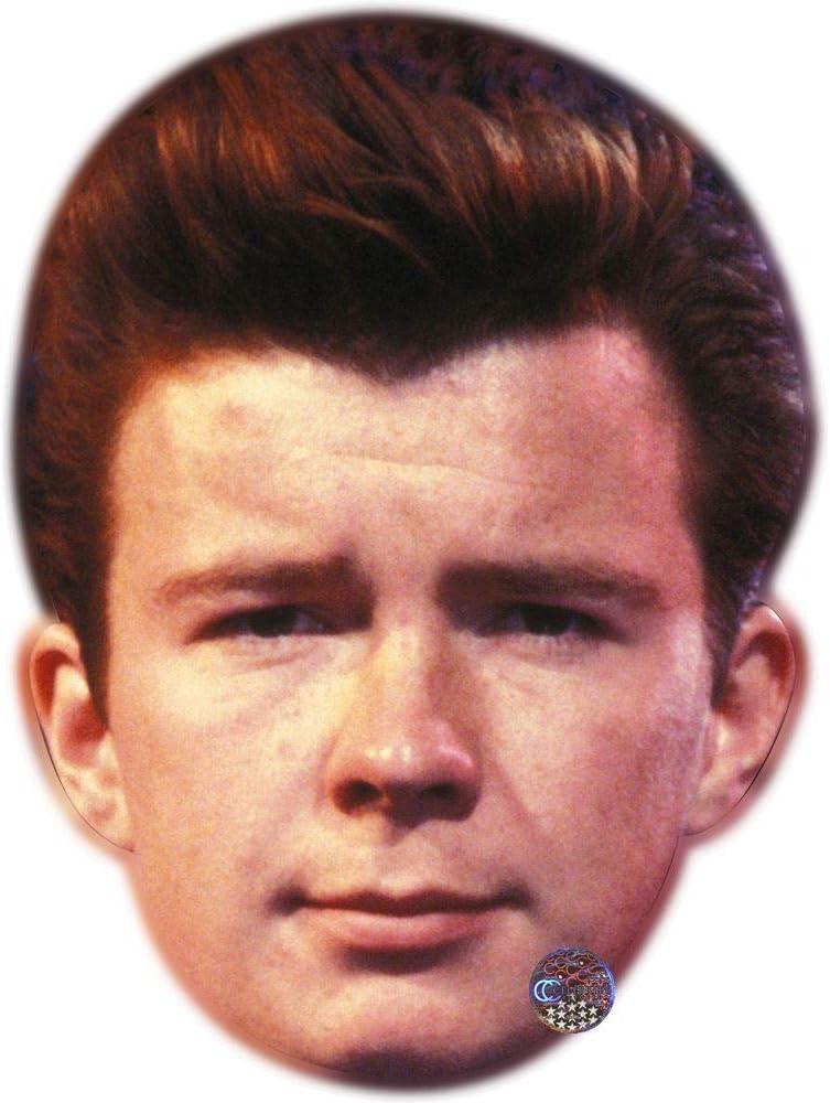 Young Maschere di persone famose Rick Astley facce di cartone