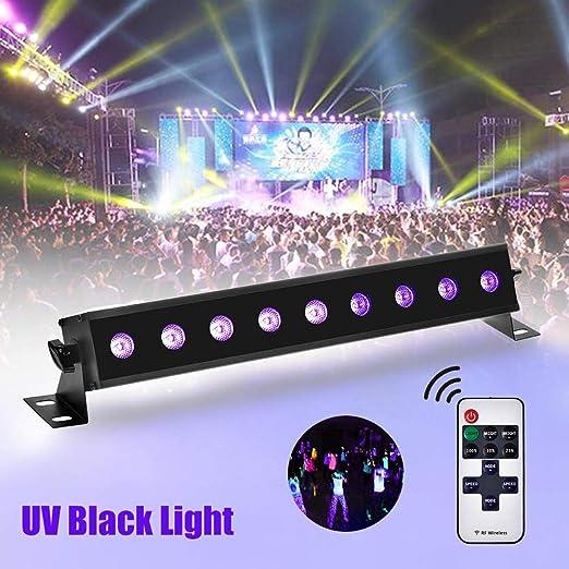 Foco de escenario con 9 LED, proyector de luz UV para barra de ...