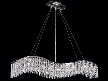 James r moder 5 light crystal wave bar with icicles chandeliers james r moder 5 light crystal wave bar with icicles mozeypictures Images