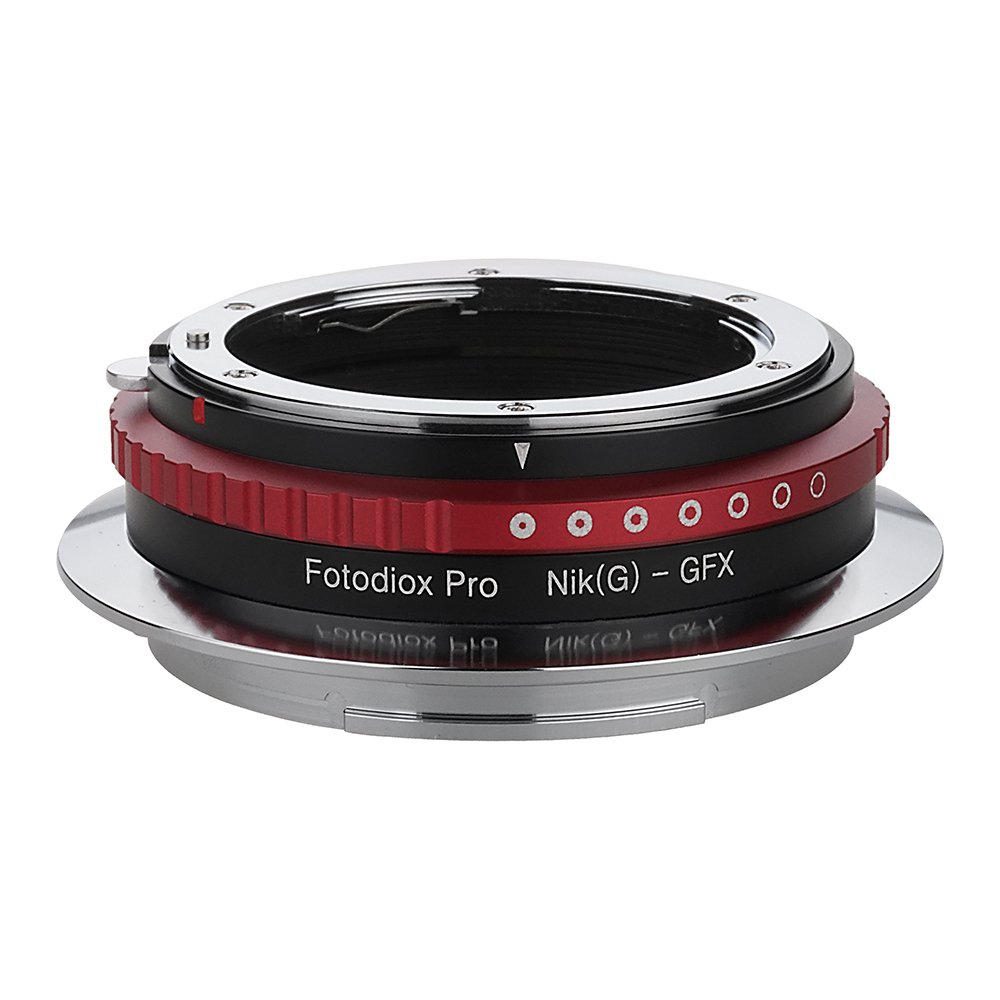 Fotodiox Pro Lens Mount Adapter Nikon Nikkor F Mount G-Type D/SLR Lens to GFX 50S G-Mount Medium Format Mirrorless Camera