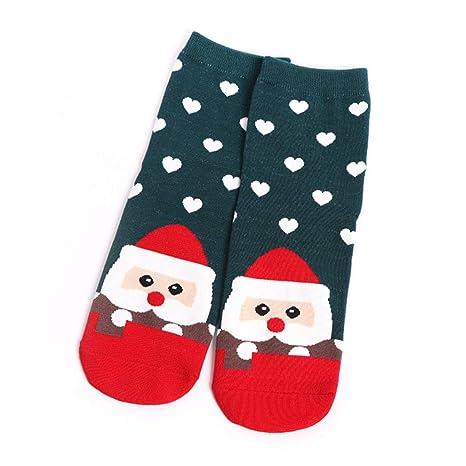 Nysunshine - Calcetines Largos de Invierno para Mujer, diseño de Dibujos Animados navideños MG