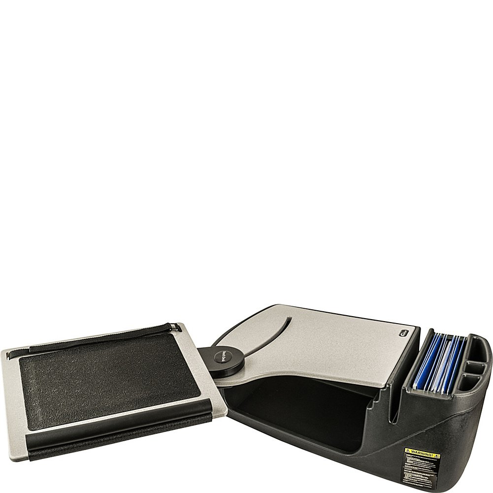 AutoExec Reach Desk Front Seat Car Desk with Built-in Power Inverter (Grey)