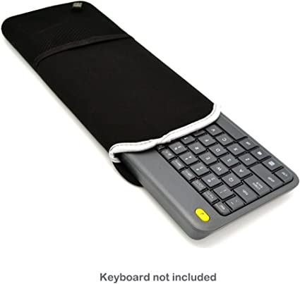 Wommty Neoprene Dust Cover Carrying Case Protector Sleeve Skins Bags with Mesh Pouch for Logitech MK270 Wireless Keyboard and Mouse Combo