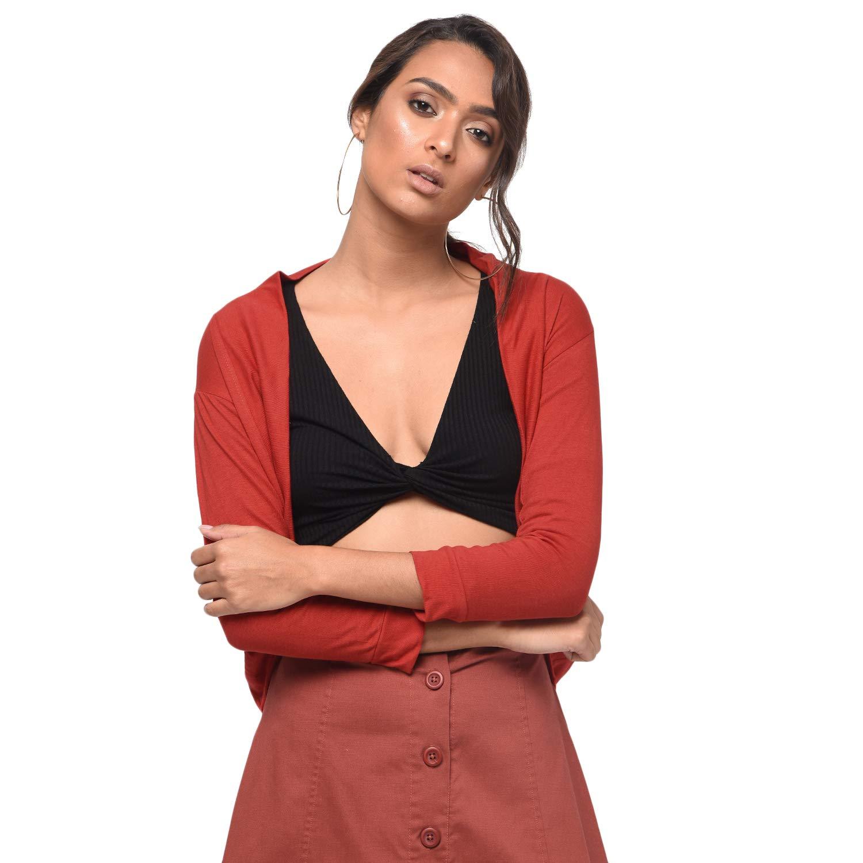 Buy Rane Women's Red Long SleeveShrug at Amazon.in