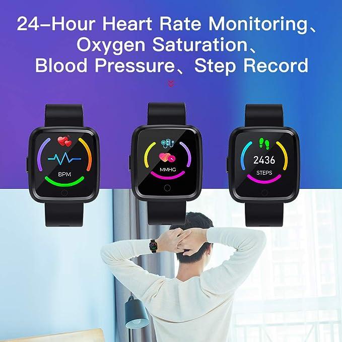 Zagzog Montre Connectée Smartwatch Bracelet Connecté Bluetooth,Podomètre Cardio Étanche IP67 Smart Watch Sport, Fitness Tracker dActivité Moniteur de ...