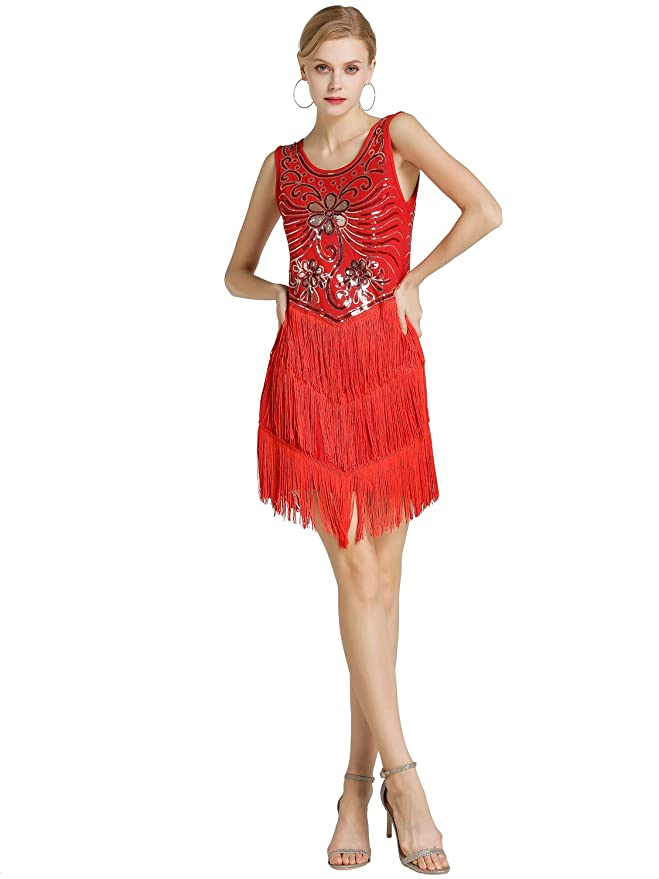 Gyratedream Latin Dresses Women Dance Competition Costumes Sequined Tassel Dress Ballroom Salsa Samba Rumba Carnival Dancing Clothes