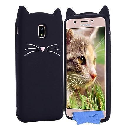 HopMore Gato Funda para Samsung Galaxy J5 2017 Silicona Motivo 3D Divertidas TPU Gel Dibujo Kawaii Carcasa Samsung J5 2017 Ultrafina Slim Case ...