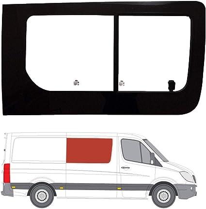 Mano derecha ventana de apertura transparente para Panel lateral OPP. Puerta Corredera Mercedes Sprinter (2006 on): Amazon.es: Coche y moto