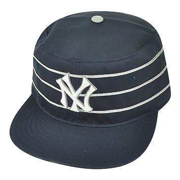 MLB New York Yankees Striped American Needle Snapback Pillbox Hat Cap Navy  Blue 15782801de0