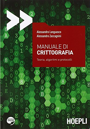 Manuale di Crittografia. Toeria, algoritmi e protocolli. for sale  Delivered anywhere in USA