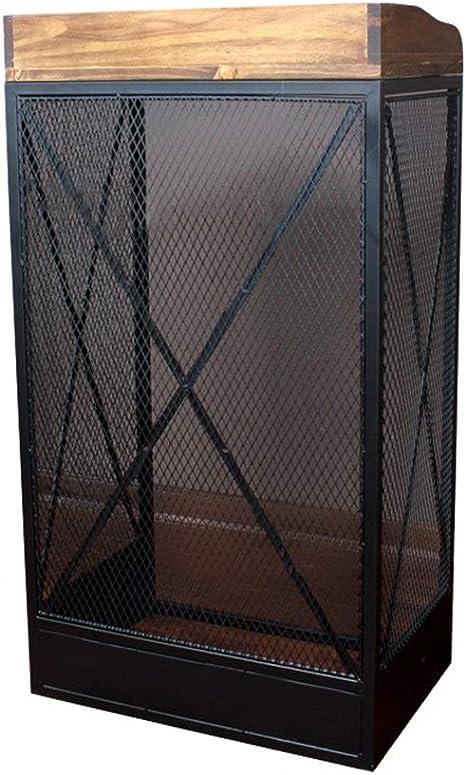 Sarahjers-Home Podium de Altura Restaurante Recepción de Bienvenida Hierro Forjado Escritorio pequeño hostal de Retro Hotel Moda Altavoz Podium Tabla Atril Mueble (Color : Black, Size : M): Amazon.es: Hogar