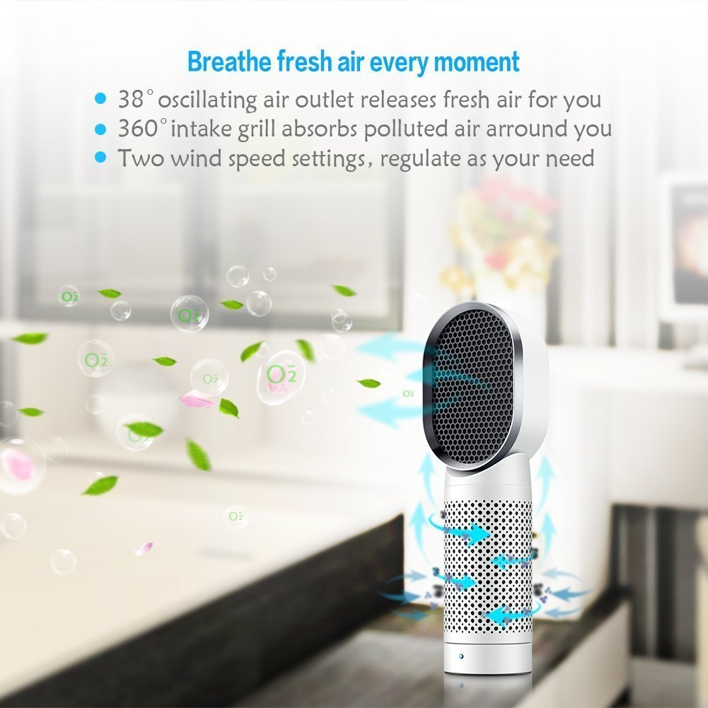 IFLYING Air Purifier with HEPA Filter Removes Smoke, Dust and Allergens