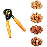 FOTYRIG Heavy Duty Nutcracker Nut Cracker Pecan Walnut Cracker Plier Opener Tool with Wood Handle (Updated)