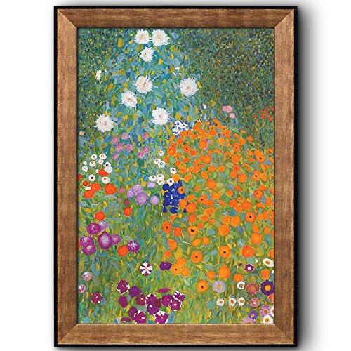 Bauern Garten by Gustav Klimt Framed Art