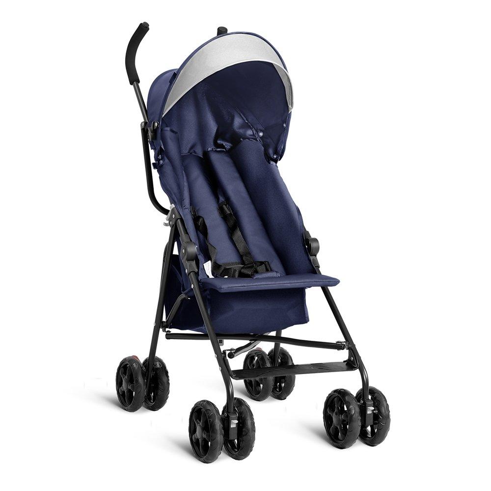 Costzon Lightweight Umbrella Baby Stroller Toddler Travel Sun Canopy with Storage Basket (Dark Blue)